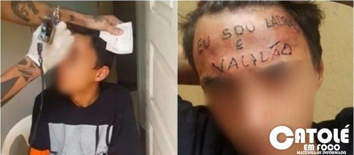 eu sou ladrao e vacilao diz a frase tatuada na testa de suposto ladrao 1377949