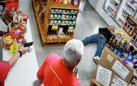 mulher mete bala em bandido que tentou assaltar loja de bebidas video