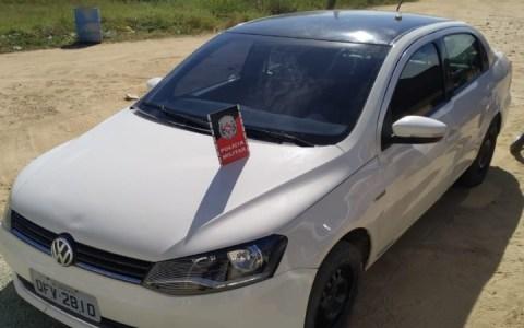 carro roubado e recuperado pela policia militar em brejo do cruz