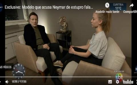 mulher que acusou neymar quebra o silencio assista a entrevista