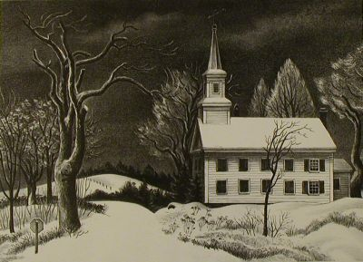 New Snow Lithograph by Ernest Fiene, 1946