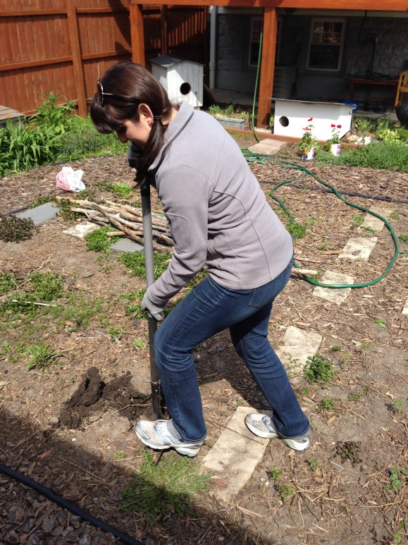 Janessa digging