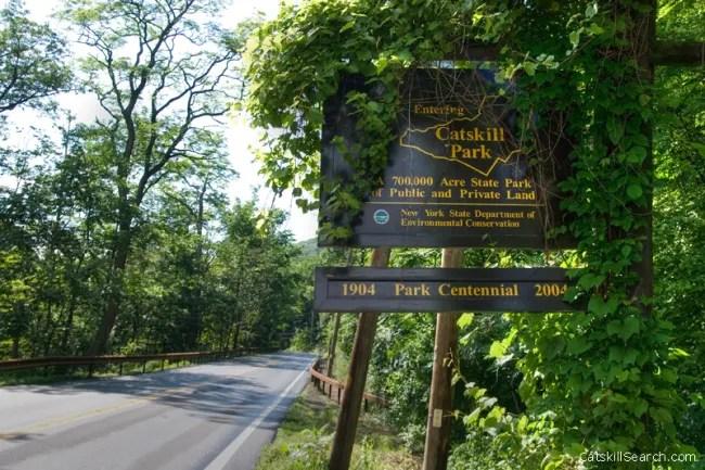 Catskill park Entrance Sign