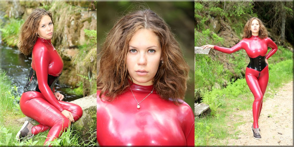 Polina in rot