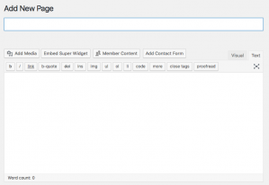 Add Wordpress Page