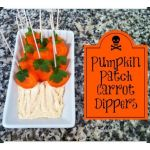 Pumpkin patch carrot dippers - a quick way to add some healthy vegetables to your Halloween party food