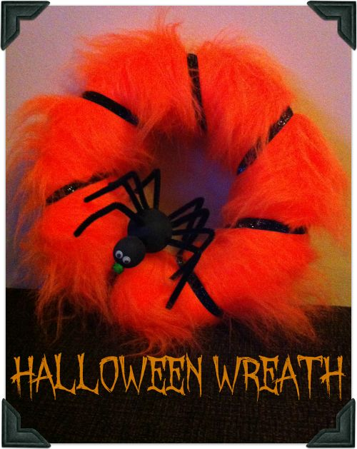 How to make a fun Halloween spider web wreath
