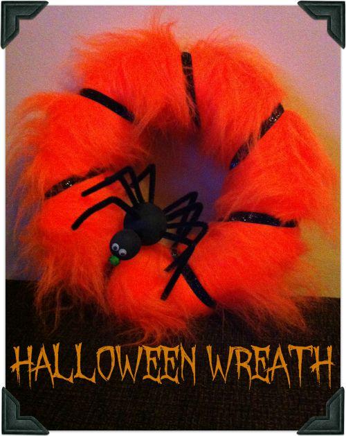 How to make a fun Halloween spider web wreath