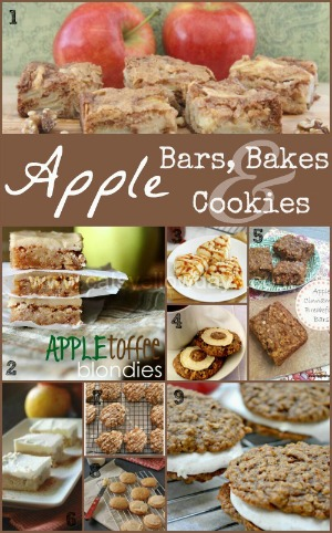 Recipes for Apple Bars, bakes and cookies