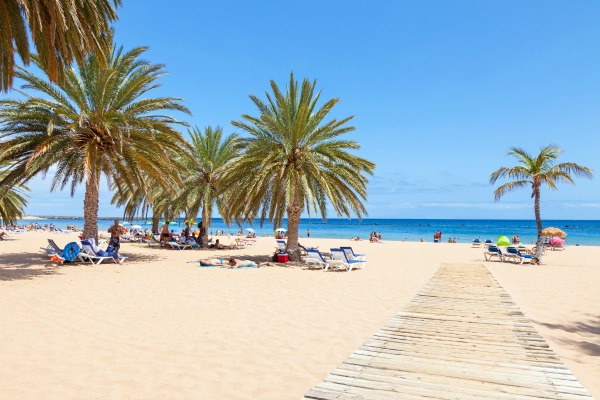The golden beach Las Teresitas, one of the most famous beaches on Tenerife