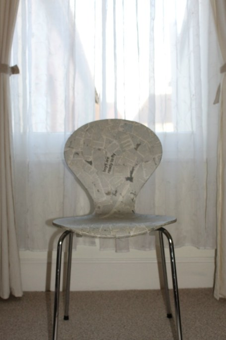 update a chair with newspaper after photo 2