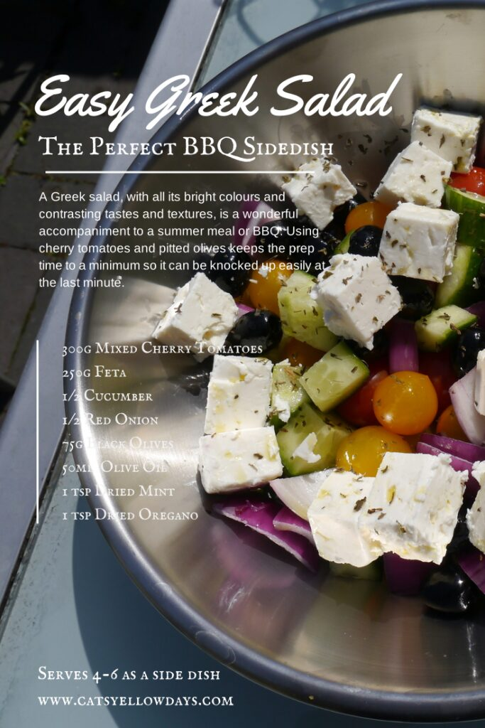 Quick and easy Greek salad recipe - Yellow Days