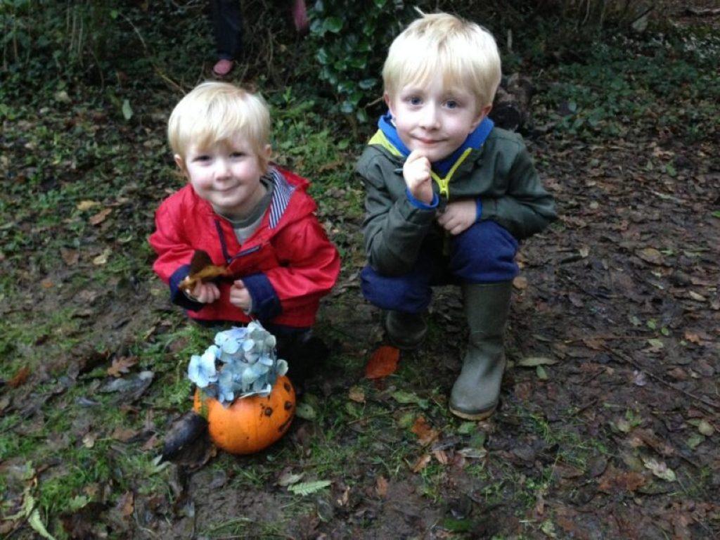 foraged pumpkin decorating bosinver cornwall review