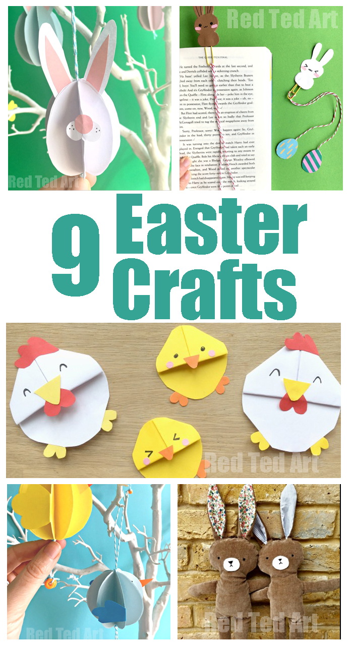 9 Super Cute Easy Easter Crafts To Make With Your Kids Yellow Days