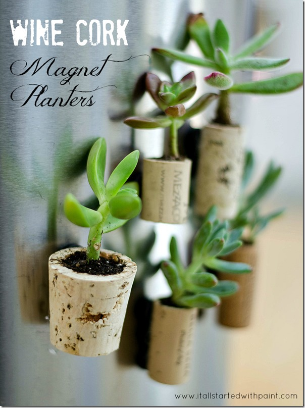 Planter wine used cork crafts