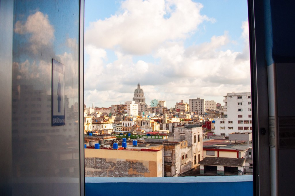 Havana great view on the town from toilet