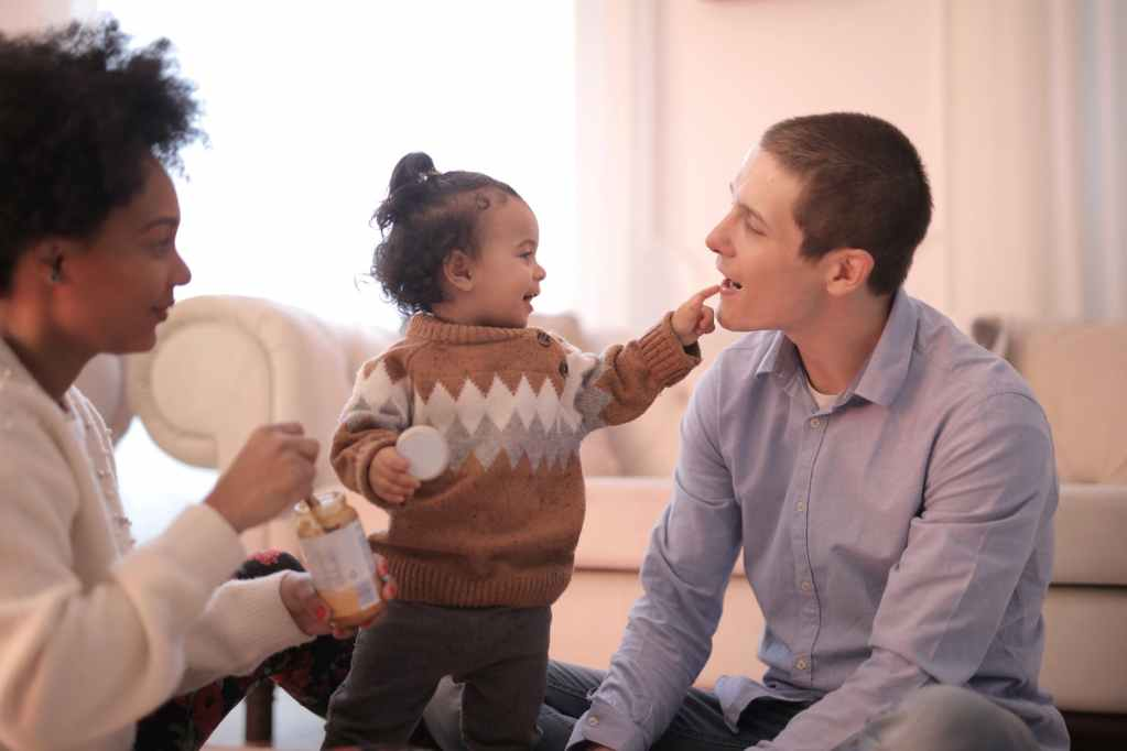 multiethnic family spending time together at home
