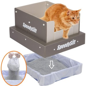 SpeedySift Cat Litter Box With Disposable Sifting Liners