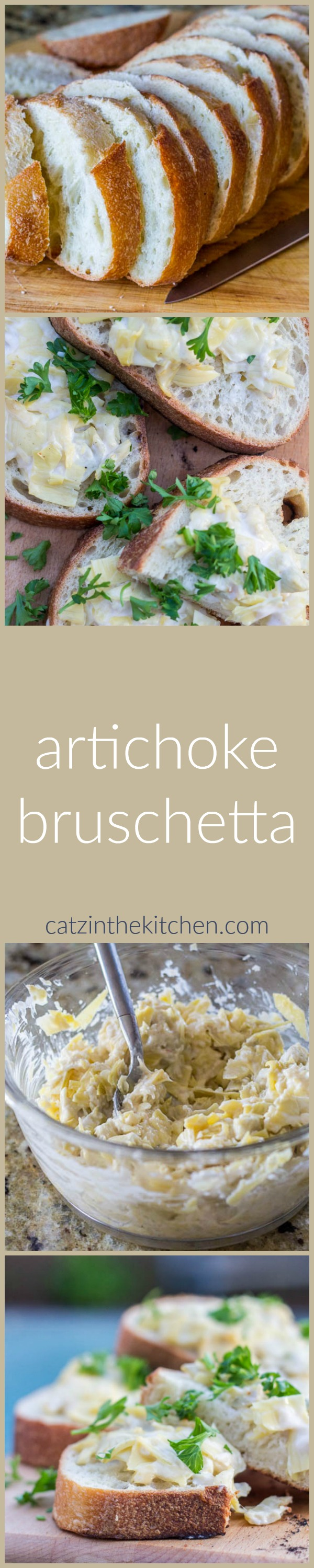 This recipe for artichoke bruschetta is probably our simplest, favorite appetizer! It goes well with pasta dishes and outdoor meals, and is ready in 15 min!