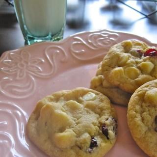 Cherry Vanilla White Chocolate Chip Cookies