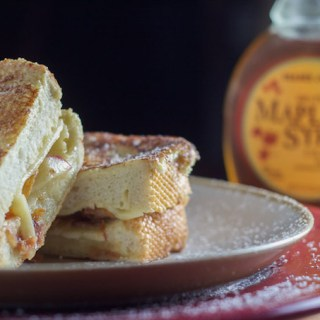 Amazing Apple Bacon Cheddar Monte Cristos
