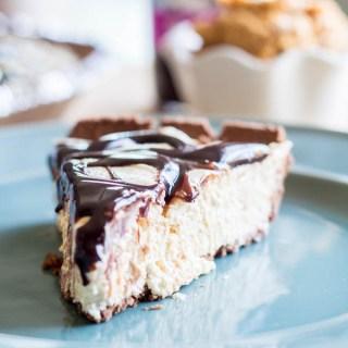 Peanut Butter & Fudge Swirl Pie