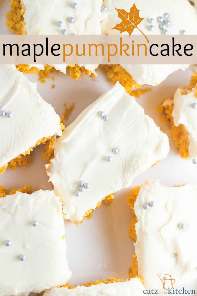 Maple Pumpkin Cake | Catz in the Kitchen | catzinthekitchen.com | #cake #fall #pumpkin