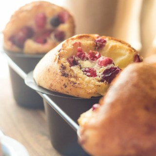 Cranberry Almond Popovers