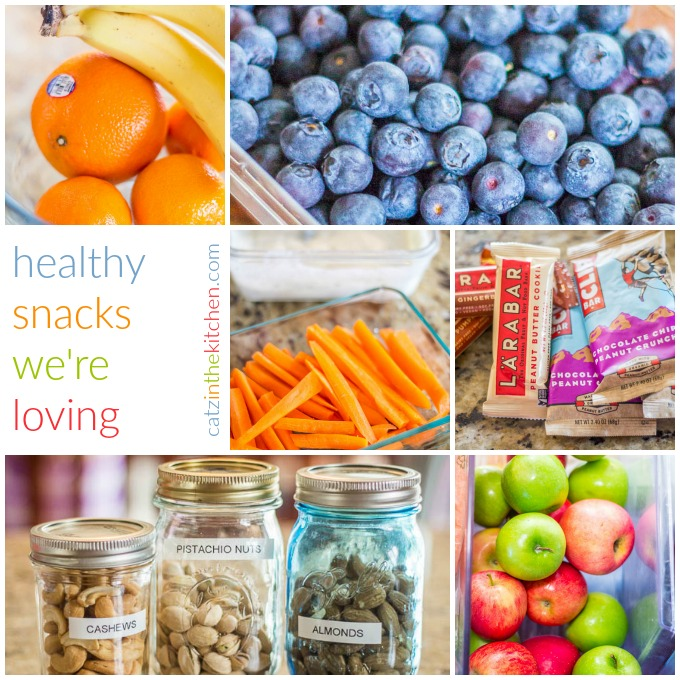 Healthy Snacks We're Loving | Catz in the Kitchen | catzinthekitchen.com | #healthy #snacks