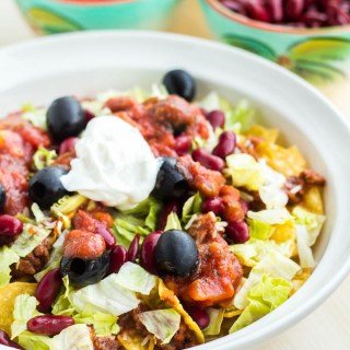 Trainwreck Crock Pot Taco Salad