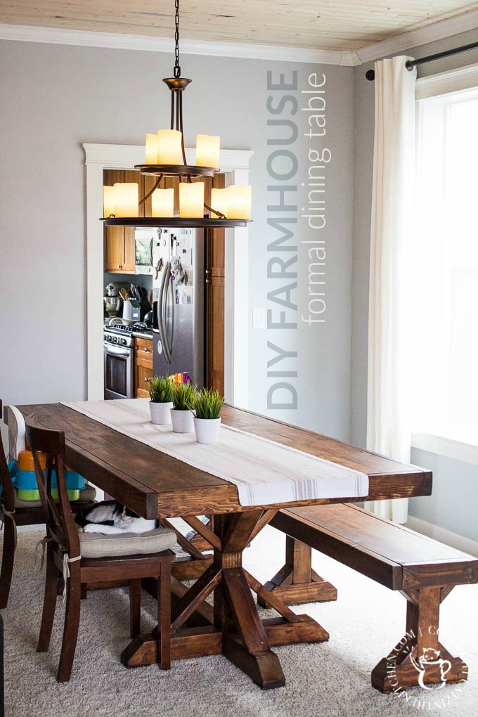 DIY Farmhouse Formal Dining Table Catz in the Kitchen