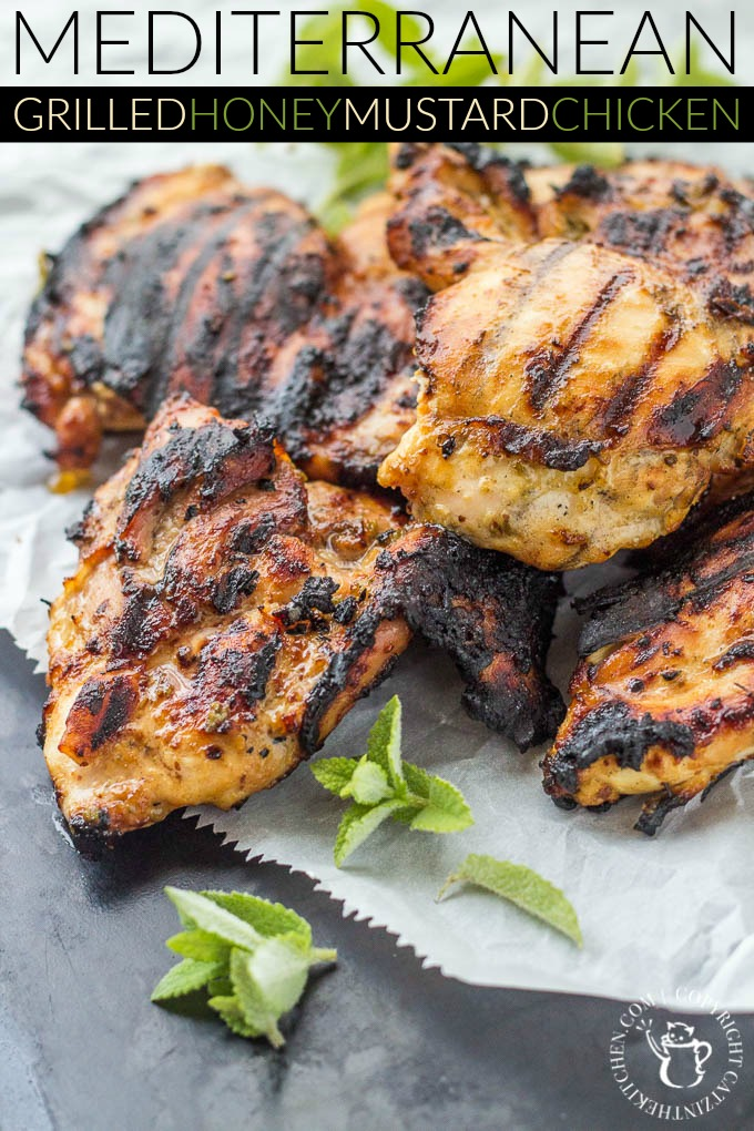 Mediterranean Grilled Honey Mustard Chicken Pinterest