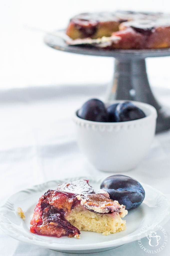 """This recipe for French plum cake, also known as a """"tatin"""" will surprise and delight your palette! It's the perfect way to showcase this special fall fruit!"""