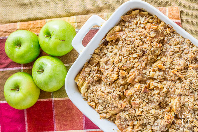 Not a morning person? Make this yummy Overnight Apple French Toast Crisp the night before, & then effortlessly savor the goodness of fall food the next AM!