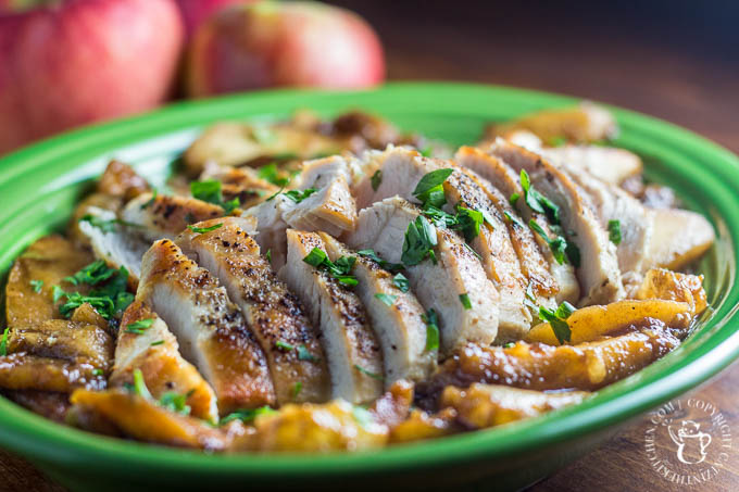 Pan Seared Chicken with Apples and Pears is a yummy, easy, reliable one pan meal that you'll want to make over and over again!