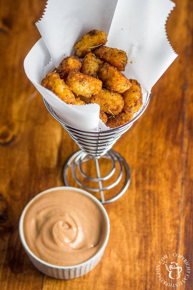 Crunchy on the outside, soft and hot on the inside, with just the right amount of zesty kick, these Copycat McMenamins Cajun Tots are where it's at.
