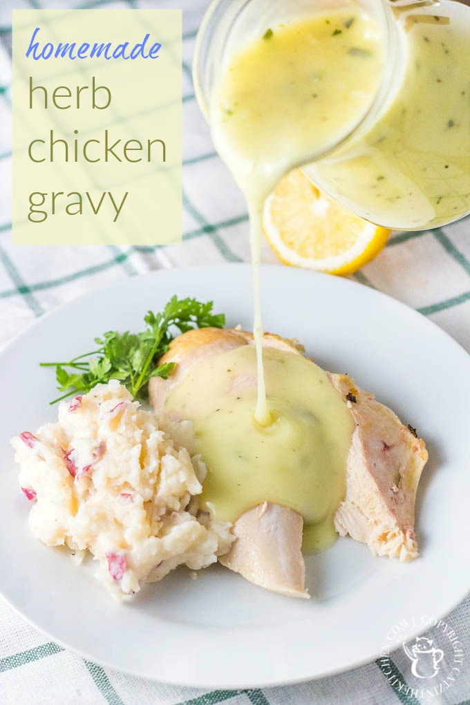 This recipe for homemade herb chicken gravy is easy and it is quick and it is yummy and it is foolproof and I bet you will love it!