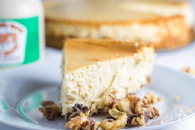 This recipe for Maple Walnut Cheesecake is now one of our family favorites - not too sweet, silky smooth, and just a bit nutty!