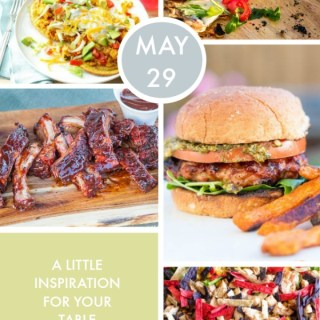Weekly Menu for the Week of May 29th