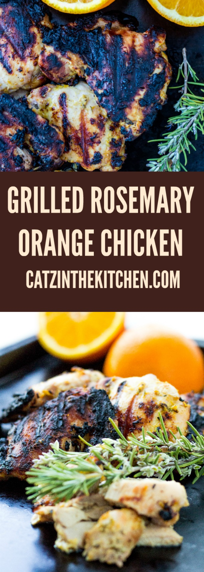 The easy marinade for this grilled rosemary orange chicken recipe is made with ingredients you've probably already got in your pantry!