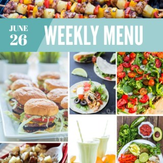 Weekly Menu for the Week of June 26th