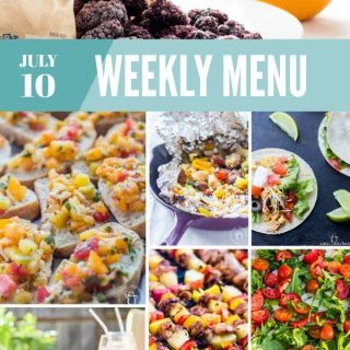 Weekly Menu for the Week of July 10th