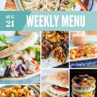 Weekly Menu for the Week of Aug 21st