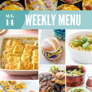 Weekly Menu For the Week of Aug 14th