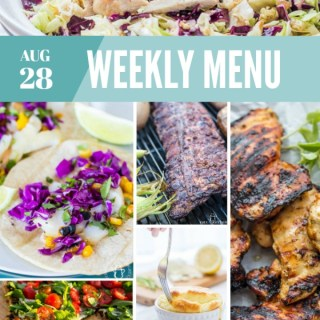Weekly Menu for the Week of Aug 28th