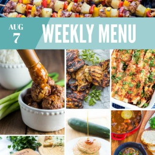 Weekly Menu For the Week of Aug 7th