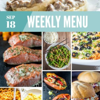 Weekly Menu For the Week of Sep 18th