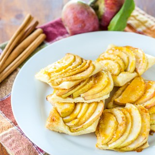 This recipe for apple tartlets couldn't be much easier. A sheet of puff pastry, some apples, and a few pantry ingredients, and you're ready to go!