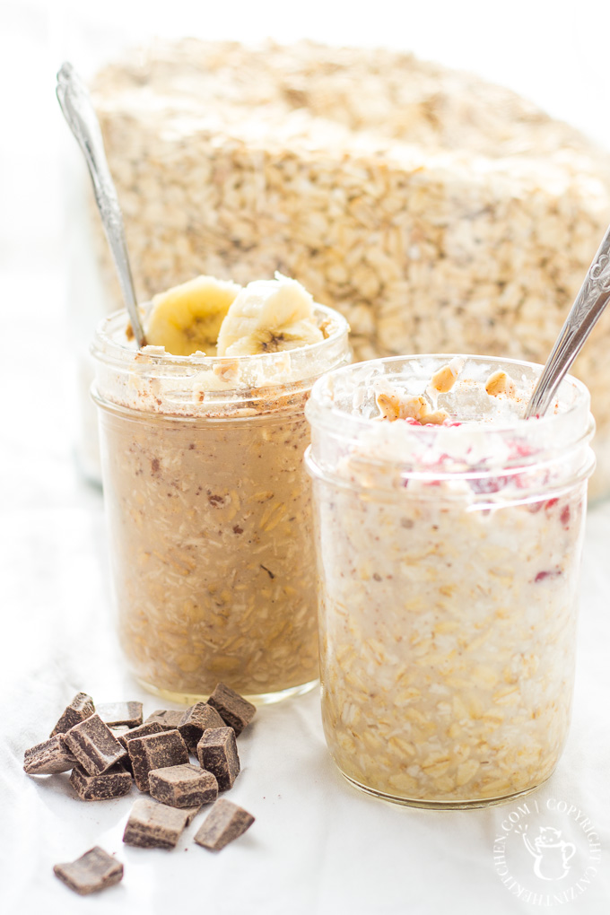 """We customize these easy, healthy, & convenient Overnight Oats to make them """"His & Hers""""! They save us time & money, while keeping us full in the mornings!"""