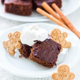 Chocolate Swirled Gingerbread Cake